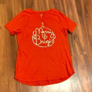 NWOT Woman's Old Navy Holiday T-shirt